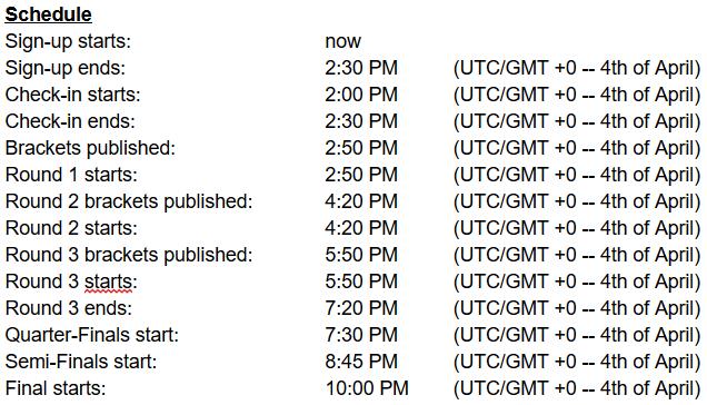 CCS5-Schedule